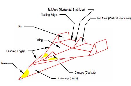 Paper air plane parts
